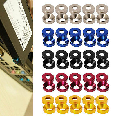 New Aluminum Alloy M2 M3 M4 M5 Anodized Countersunk Head Bolt Washers Gasket