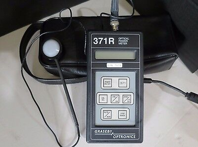 GRASEBY OPTRONICS 371R Optical Power Meter 268P Sensor w/ Storage Carrying Case