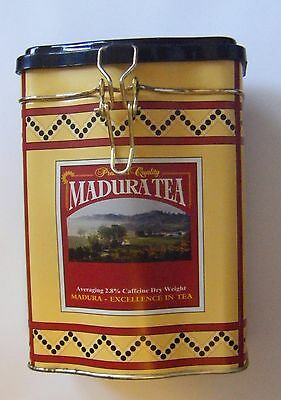 Madura Tea caddy empty tea tin.