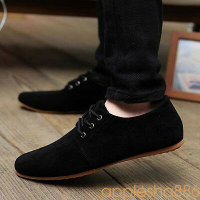 2017 HOT Men's Casual Lace Slip On Loafer Shoes British Moccasins Driving Shoes