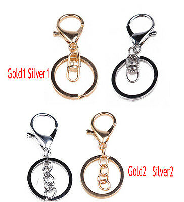 Gold/Silver KeyChain Alloy Swivel Clip Lobster Clasp Trigger Snap Hook Key Ring