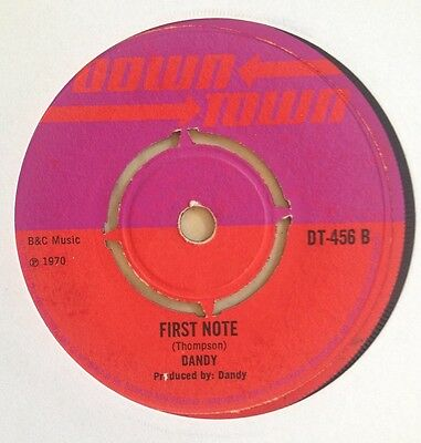 "'first Note/raining In My Heart' Dandy Uk Downtown 7"" Killer Skinhead 1970"