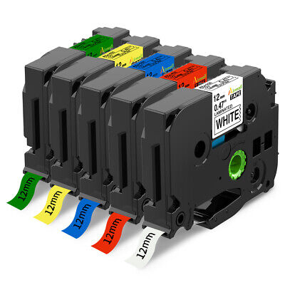 5PK TZ TZe231 431 531 631 731 Label Tape Marker Compatible Brother P-Touch 12mm