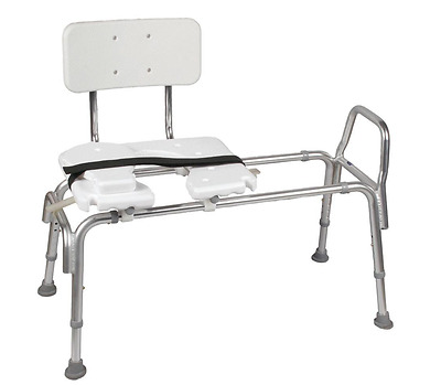 Adjustable Medical Transfer Bench Seat Plastic 400 lbs Safety Shower Bath Chair