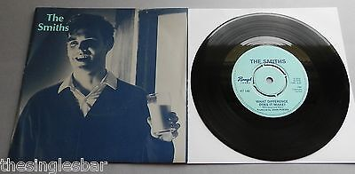 "The Smiths - What Difference Does It Make? UK 1986 Rough Trade 7"" Morrissey P/S"
