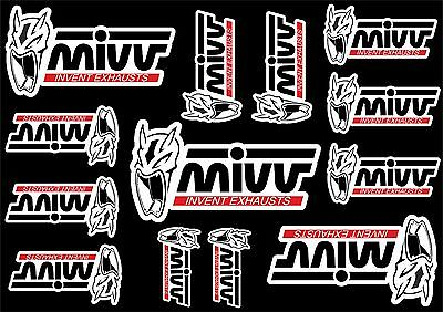 Mivv Decals Stickers for Exhaust Muffler Graphic Set Vinyl Adhesive 13 Pcs