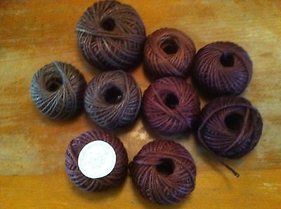 Vintage Macrame jute.Cord.5 ply.3 shades brown.Approx 430 metres.New.9 balls