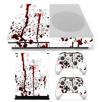 Bloody Skin Decals Stickers Cover for Xbox One S Console & 2 Controllers Game