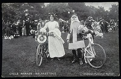 Old Postcard - Cycle Parade, Belfast, Northern Ireland - 1905