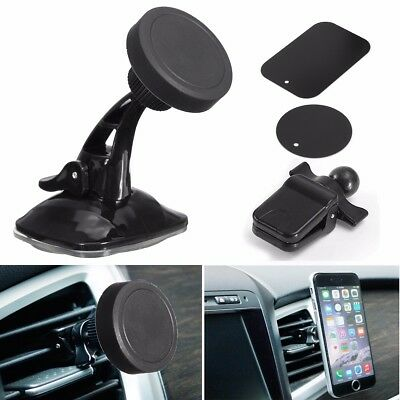 3in1 Magnetic Car Mobile Phone Air Vent Holder Windshield Mount Dashboard Stand