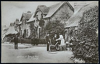 Old Postcard - Arrival Of Parcel Post, St Fillans, Perthshire, Scotland - 1916