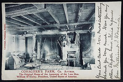 Old Postcard - Conagher's Farm, Co Antrim, Northern Ireland - 190?