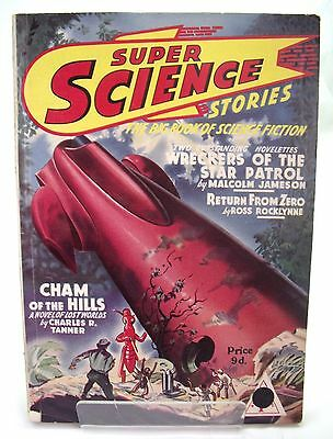SUPER SCIENCE STORIES PULP SCI-FI MAGAZINE BRITISH EDITION No10 1952 VINTAGE