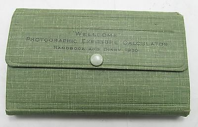 Wellcome Photographic Exposure Calculator Handbook & Diary 1930 Vintage Manual