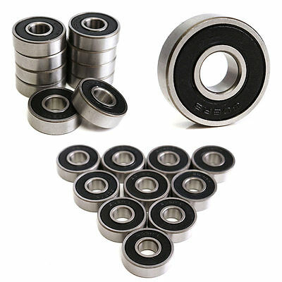 For High Quality 10Pcs 608-2RS Miniature Deep Groove Steel Sealed Ball Bearings