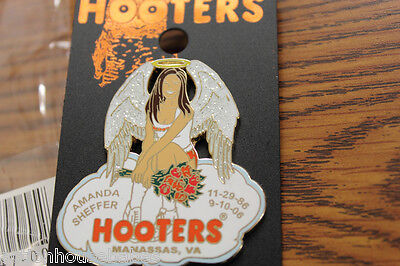 Hooters Restaurant Girl Amanda Sheffer Angel Memorial Pin Manassas Va Virginia