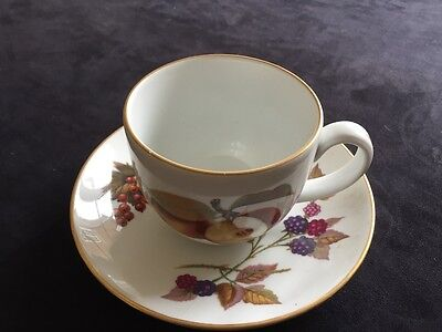 Royal Worcester Evesham Gold Porcelain Tea Cup And Saucer