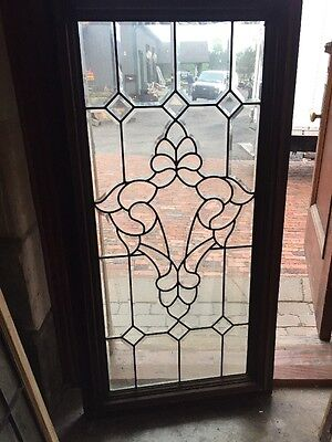 Sg 1444 Vintage Beveled Glass Landing Window Thermopane 26 X 51