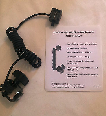 NEW TriStar Extension Cord For Sony TTL Flash Units FE-SO/1