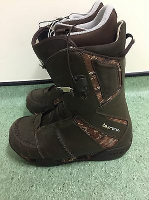 Men's Adults Burton Ruler Snowboard Boots Size UK 10 EU 44 US 11 Brown