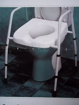 NRS Healthcare M66613 Mowbray Lite Adjustable Elevated Toilet Seat - New/Boxed