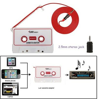 Auto Audio Cassette Tape Adapter Converter For iPhone 3G 4G DVD MP3/4 AUX 3.5mm