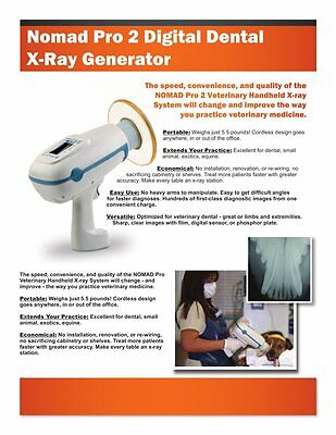 NOMAD Pro2 VETERINARY Handheld Portable Dental X-Ray Aribex