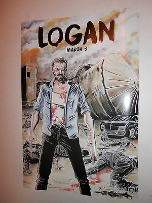 LOGAN Movie Poster Wolverine Fox Marvel Limited Edition Jeff Lemire