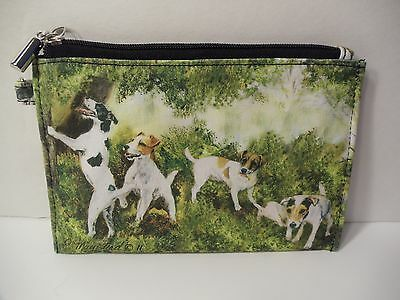 """JACK RUSSEL 4"""" x 6"""" Zippered Coin Purse Ruth Maystead"""