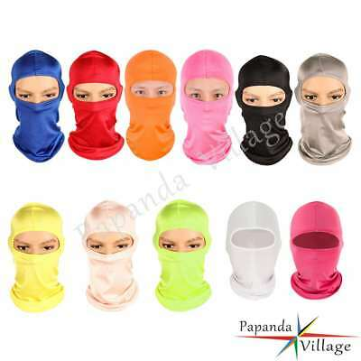 Cycling Lycra Balaclava Neck Hood Full Face Mask Outdoor Motorcycle Ski 13 Color