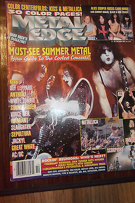METAL EDGE OCT 1996 Complete with KISS CENTERFOLD STILL ATTACHED