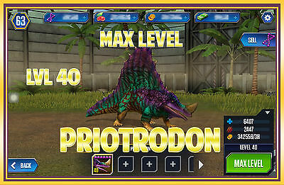 Jurassic WORLD The Game Builder MAX LEVEL PRIOTRODON unlock Android iOS park