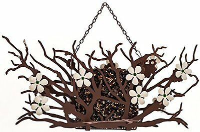 GOLD-DS409111-Desert Steel Pear Blossom Bird Seed Cake Feeder