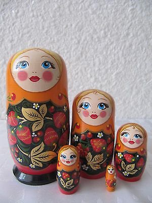 Matryoshka Dolls – 5 pieces. Wooden Russian Nesting Dolls. Made in Russia.