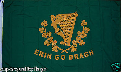 NEW 3x5 ft ERIN GO BRAGH ST PATRICKS DAY IRELAND IRISH FLAG
