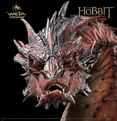The Lord Of The Rings THE HOBBIT Smaug Dragon Bust Weta Colletibles Statue