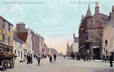 High Street Burntisland unused old postcard WR&S Reliable series
