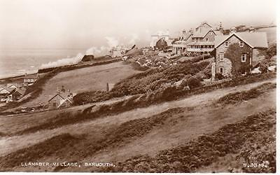 Llanaber Village Barmouth Railway unused RP pc Valentines
