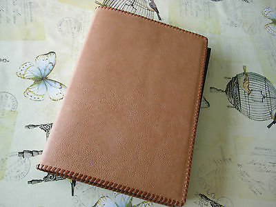 A4 Academic Diary 2017/18 Beautiful Handmade Leather Cover With Removable Diary