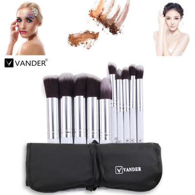 Vander 10Pcs Beauty Cosmetic Foundation Powder Face Makeup Brushes Tools
