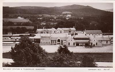 Railway Station Tilquhillie Banchory RP old pc used 1910 M Hosie