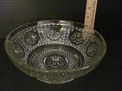 "Vintage Depression Glass Imperial Glass 7.5"" Fruit Bowl Octagon Pattern        W"