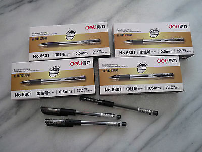 Black Gel Ink Pen 0.5mm x 48 Pcs. High Quality Ballpoint Pen.