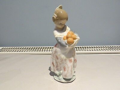 Lladro Figurine Valencian Girl With Oranges
