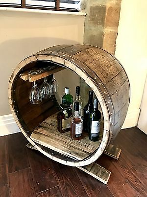 Drinks Cabinet - Mini Bar - Whisky Barrel Bar - Drinks Storage