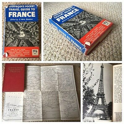Everybody's Pocket Travel Guide To France, Vintage Inc Photos & Map