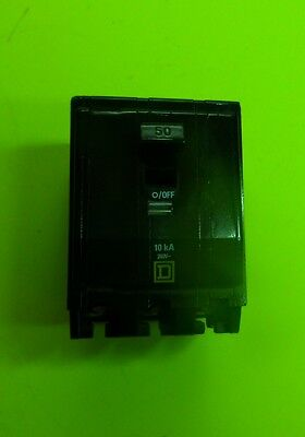 Square D Breaker 50 Amp  240 Vac 3 Pole For Hvac Systems