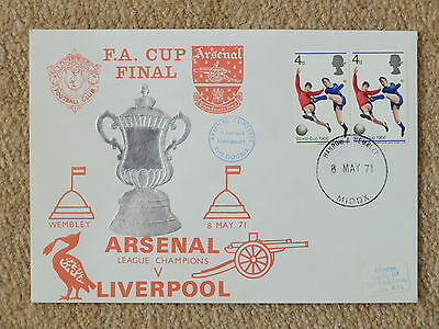 **RARE** FA CUP FINAL 1971 Arsenal Cover with 8/5/71 postmark & 1966 stamps