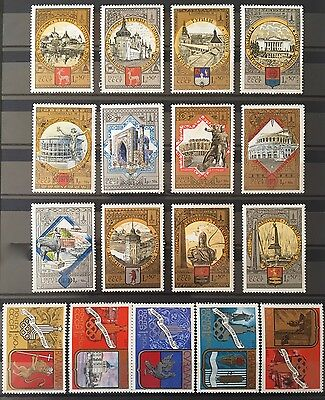 Russia  USSR 1977 - 1979, Tourism (1980 Olympic Games) 5 sets (2 full) MNH**