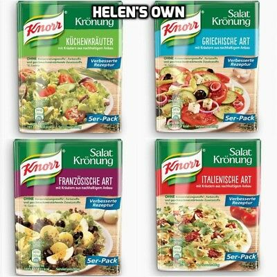 KNORR Salad Dressing Herb Mix- 5 Sachets, NEW MULTI LISTING - Varied Selection